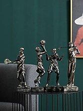 LUYIYI Modern Basketball Ornaments Creative Golf