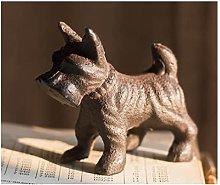 LUYIYI Schnauzer Cast Iron Ornaments, Study