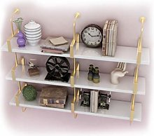 LUYIYI Storage Shelf Living Room Wrought Iron