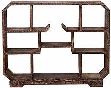 LUYIYI Wooden Display Shelf Rack, Desktop