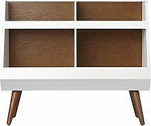 Luyshts Bookshelf Rack Wooden Office Storage Stand