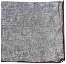 Luzio - Gray Linen Napkin with Black Trim