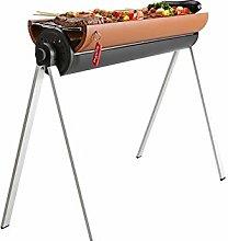 LVJUNQ Folding Portable Barbecue Charcoal Grill,