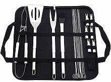 Lwieui BBQ Grill Tools Kit 22pcs BBQ Stainless