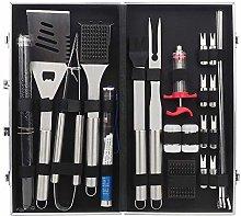 Lwieui BBQ Grill Tools Kit 24pcs BBQ Tools Set