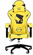 Lwieui Game Chair Leather Gaming Chair Game Seat