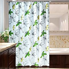 Lwieui Shower Curtain Green Leaf Shower Curtain