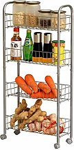LWKBE 4-Tier Kitchen Slim Storage Shelves,Utility