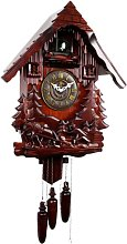 LWKBE Cuckoo Clock Black Forest House with House