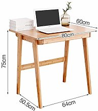 LWW Tables,Bamboo Computer Desk with Drawer Laptop