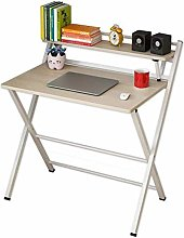 LWW Tables,Folding Desk for Small Space 2 Tiers