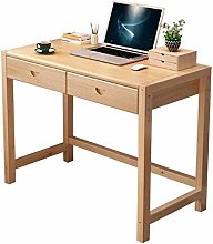 LWW Tables,Writing Desk Pinewood with 2 Drawers