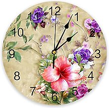 LWXJK Morning Glory Flower Abstract Wall Clock
