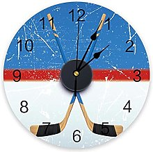 LWXJK Sport Hockey Stadium Retro Wall Clock Home