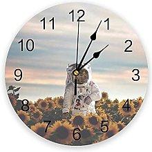 LWXJK The Sunflower Galaxy Wall Clock Home Decor