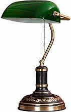 LXD Banker Lamp,Green Shade Retro Bronze