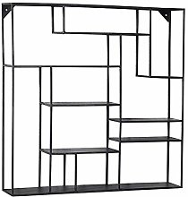 LXD Bookcases,Bookshelf Wrought Iron Black Wall