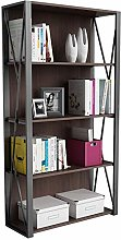 LXD Bookshees,Bookcases 4-Tiers Bookshelf Wood