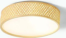 LXD Ceiling Lights,Led Circular Bamboo Simple