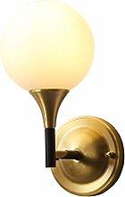 LXD Copper Wall Lamp Interior Bedroom Bedside Lamp