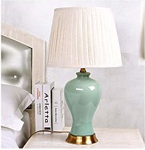 LXD Desk Lamp,Ceramic Table Lamp Living Room