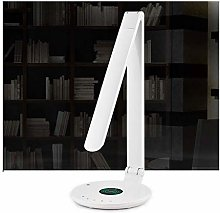 LXD Desk Lamp,with Wireless Charger Outlet USB