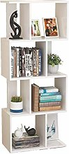 LXD Floating Shees,Shelf Wooden 4 Tier Bookcase