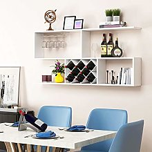 LXD Wine Racks,Wall-Mounted Wood Assembly Bar Wall