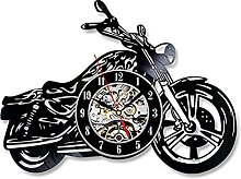 LXDZXY 3D Wall Clock with LED Luminous Motorcycle