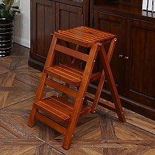 LXDZXY Ladders,Solid Wood Folding 3 Step Ladder