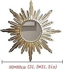 LXDZXY Mirrors,European Art Mirror Sun-Shaped