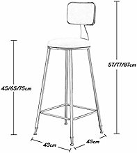 LXDZXY Stools,Bar Stools Upholstered Dining Chairs