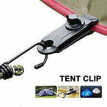 LXDZXY Tarpaulin Tent Clip,5Pcs Adjustable Plastic