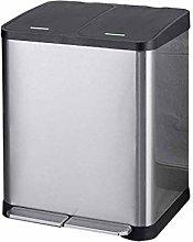 LXDZXY Waste Bins,30 L Recycle Bin Stainless Steel
