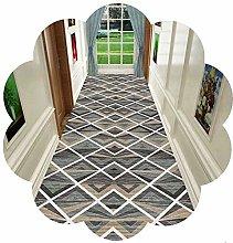 LXESWM Hallway Runner Rug Geometric Runner Rug for