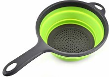 LXFA Foldable Silicone Colander With Handle