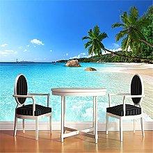 LXiFound Photo Wallpaper -Beach Blue Tropical Sand