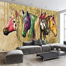 LXiFound Photo Wallpaper -Color Animal Horse