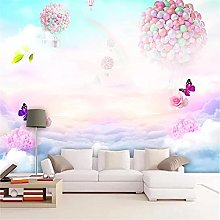 LXiFound Photo Wallpaper -Color Balloon Butterfly