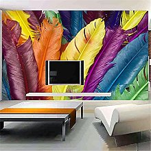 LXiFound Photo Wallpaper -Color Feather Art Trend