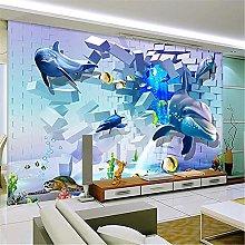 LXiFound Photo Wallpaper -Dolphin Blue Hole Fish
