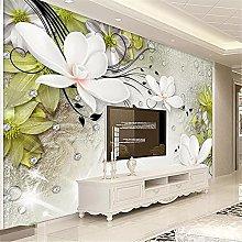 LXiFound Photo Wallpaper -Flower Diamond Simple