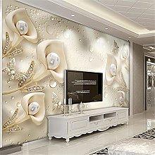 LXiFound Photo Wallpaper -Flower pearl butterfly