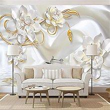 LXiFound Photo Wallpaper -Flower Pearl White Art