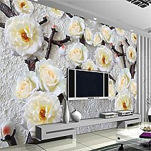 LXiFound Photo Wallpaper -Flower Plant White