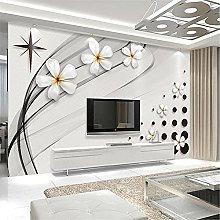 LXiFound Photo Wallpaper -Flower White Simple