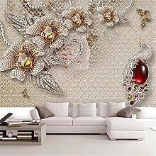 LXiFound Photo Wallpaper -Gems Flowers Hearts