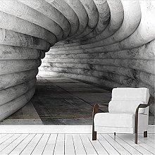 LXiFound Photo Wallpaper -Gray Tunnel Simple