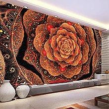 LXiFound Photo Wallpaper -Red Flower Art Pattern