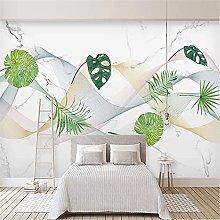 LXiFound Photo Wallpaper -Simple Plant line Modern